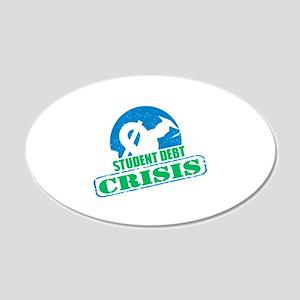 Student Debt Crisis Logo Wall Decal