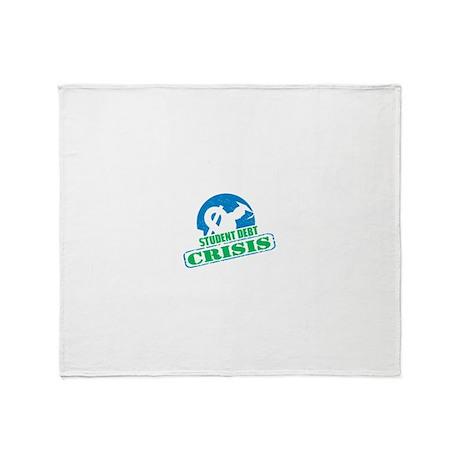 Student Debt Crisis Logo Throw Blanket
