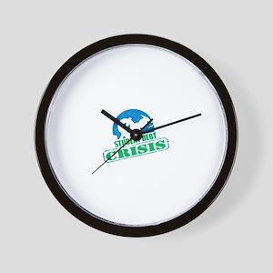 Student Debt Crisis Logo Wall Clock
