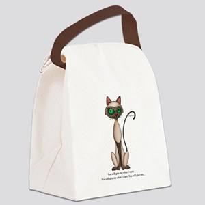What I want Canvas Lunch Bag