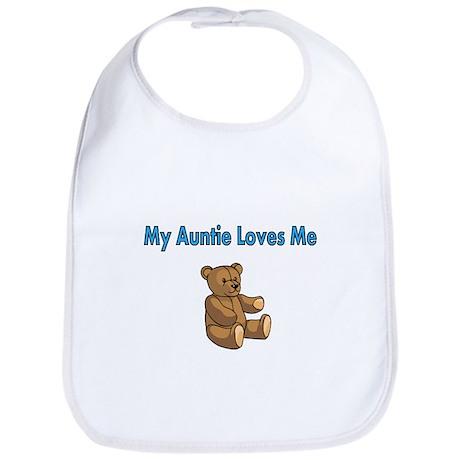 My Auntie Loves Me with Cute Teddy Bear Bib