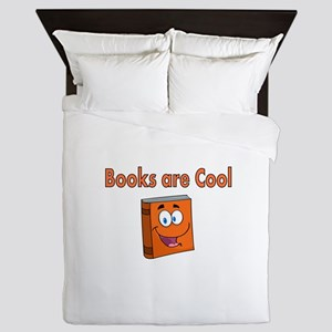 Books are Cool Queen Duvet