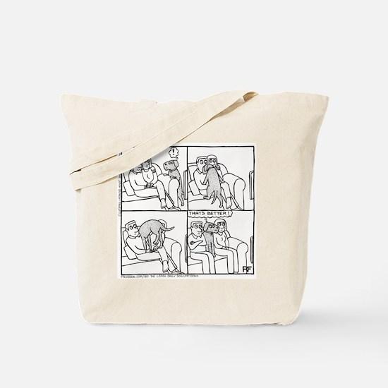 On The Sofa - Tote Bag