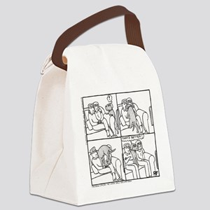 On The Sofa - Canvas Lunch Bag