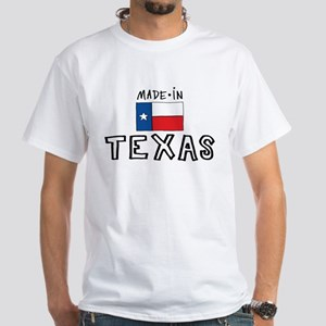 made in Texas White T-Shirt