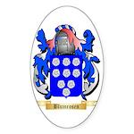 Blumrosen Sticker (Oval 50 pk)