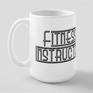 'Fitness Instructor' Miami Style Large Mug