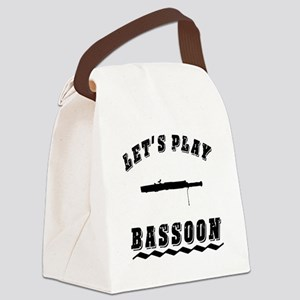 Let's Play Bassoon Canvas Lunch Bag