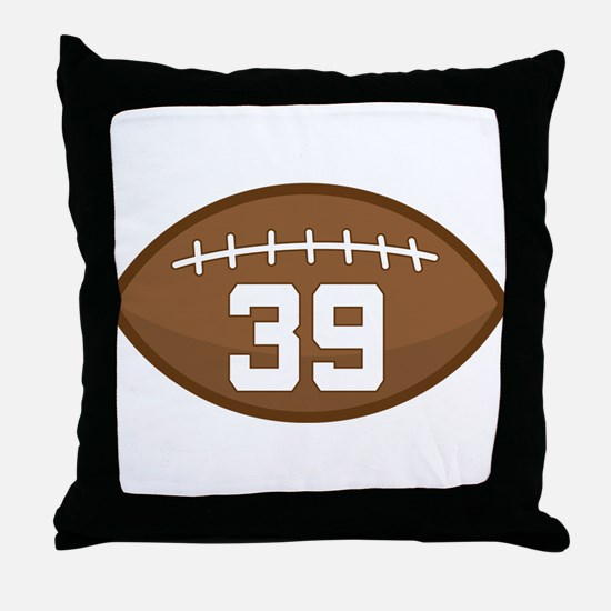 Football Player Number 39 Throw Pillow