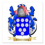 Blumenzweig Square Car Magnet 3