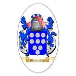 Blumenkopf Sticker (Oval 50 pk)