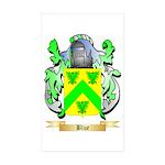 Blue Sticker (Rectangle 50 pk)