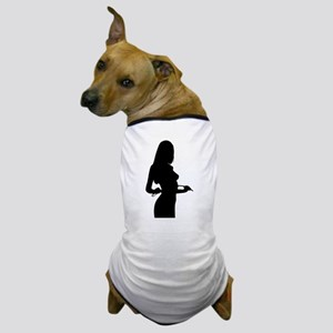 Sexy Pin Up Girl Silhouette Dog T-Shirt