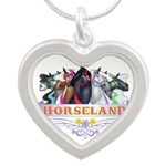Horseland TM Silver Heart Necklace