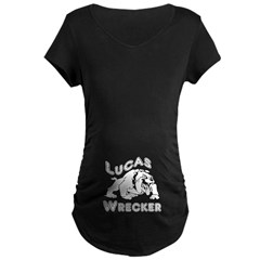 Lucas Wrecker Bulldog Maternity T-Shirt