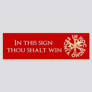 Chi-Rho Bumper Sticker