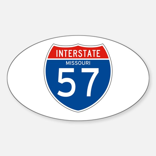 Interstate 57 - MO Oval Decal