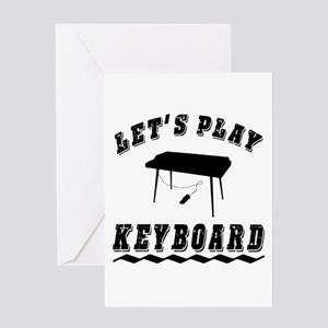 Let's Play Keyboard Greeting Card