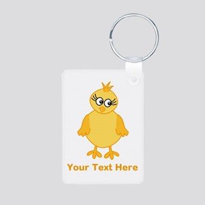 Cute Chick with Text. Keychains