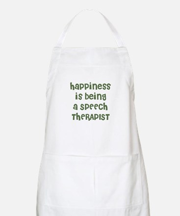 Happiness is being a SPEECH T BBQ Apron