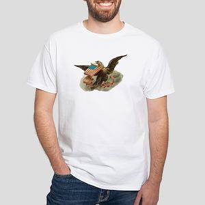 Vintage Eagle/Flag White T-Shirt