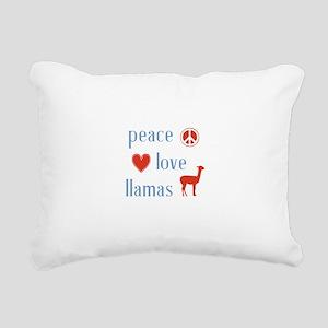 Llama Rectangular Canvas Pillow