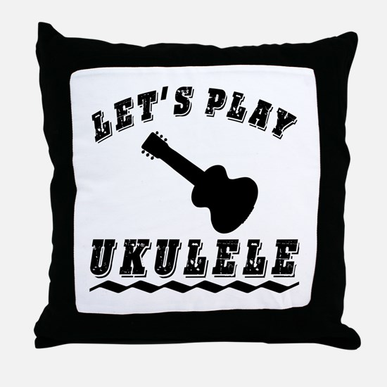 Let's Play Ukulele Throw Pillow
