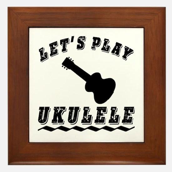 Let's Play Ukulele Framed Tile