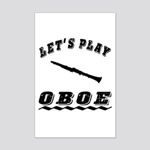 Let's Play Oboe Mini Poster Print