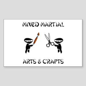 Mixed Martial Arts Crafts Sticker