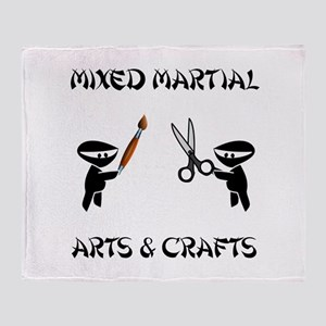Mixed Martial Arts Crafts Throw Blanket