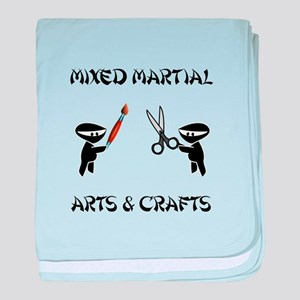 Mixed Martial Arts Crafts baby blanket
