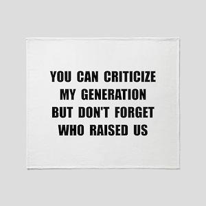My Generation Throw Blanket
