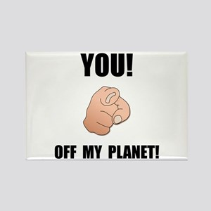 Off My Planet Rectangle Magnet (10 pack)