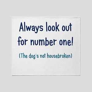 Dog is Not Housebroken Throw Blanket