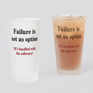 Software Failure Drinking Glass