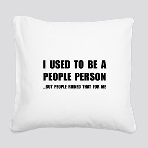 People Person Square Canvas Pillow