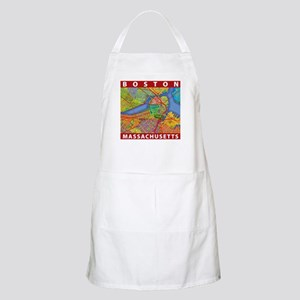 Boston Massachusetts Map Apron