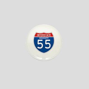 Interstate 55 - MS Mini Button
