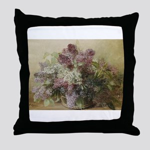Beautiful Bouquet of Lilacs Throw Pillow