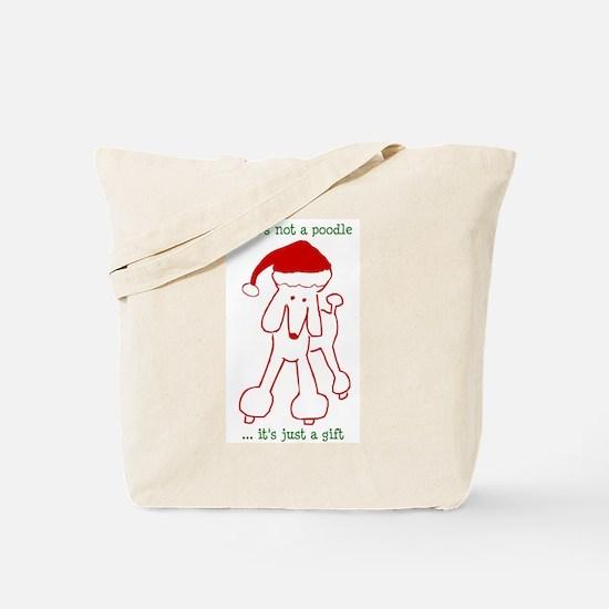 Holiday Poodle Dog Tote Bag