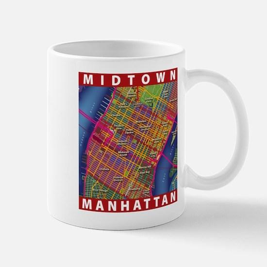 Midtown Manhattan Map Mug