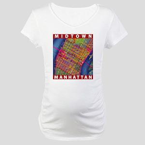 Midtown Manhattan Map Maternity T-Shirt