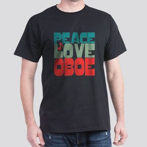 Peace Love Oboe Dark T-Shirt