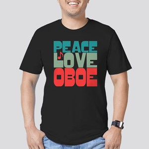 Peace Love Oboe Men's Fitted T-Shirt (dark)