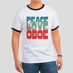 Peace Love Oboe Ringer T