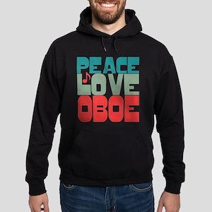 Peace Love Oboe Hoodie (dark)