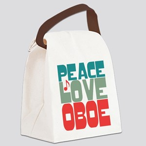 Peace Love Oboe Canvas Lunch Bag