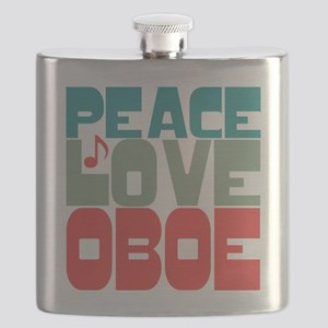 Peace Love Oboe Flask