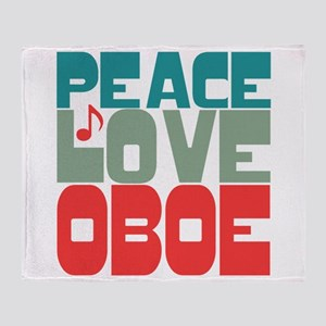 Peace Love Oboe Throw Blanket